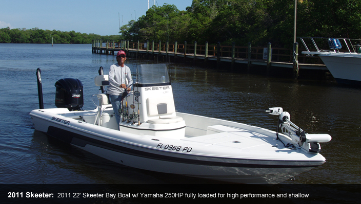 2011 Skeeter: 2011 22' Skeeter Bay Boat w/ Yamaha 250HP fully loaded for high performance and shallow